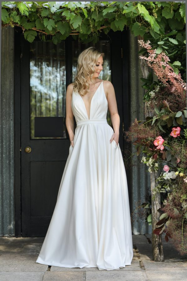 Wedding Dress by Catherine R Couture at Perfect Day Bridal.
